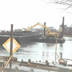 "Another picture of the ""3"" loading a scow in York Harbor, Maine."