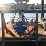 The STRIDER was built entirley by BAI as an improvement on all we had learned in the development of the Mantis. It was launched during the summer of 2009. It worked succesfully on several marina projects on the Danvers River during the winter of 2009/2010.